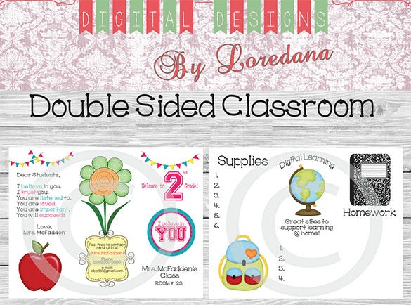 editable back to school classroom newsletter download