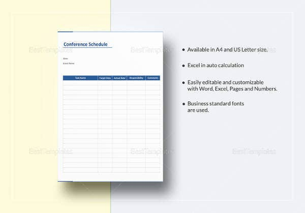 editable-conference-schedule-template