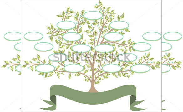 editable family tree with blank spaces to fill