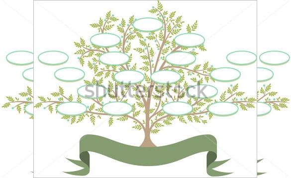 14+ Popular Editable Family Tree Templates & Designs | Free & Premium ...
