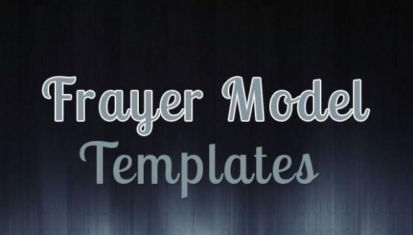 5  frayer model templates