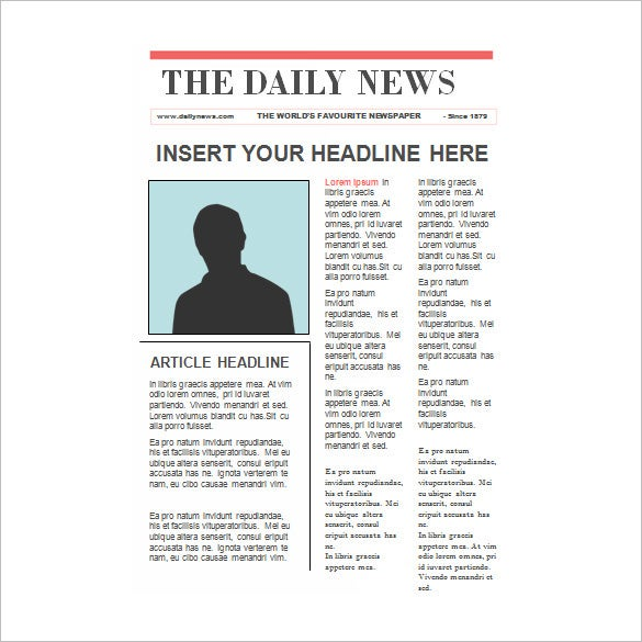 editable newspaper report template for kids in ppt format