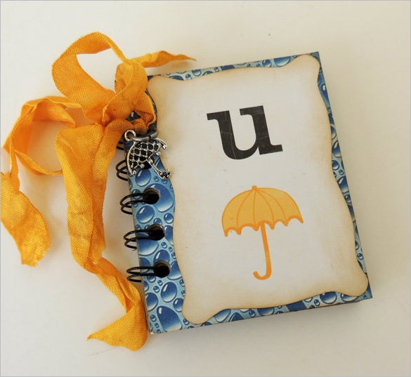 editable umbrella flash card