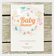 editorial baby shower card
