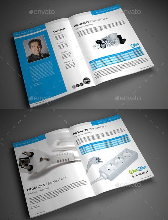 electrical product catalogue template