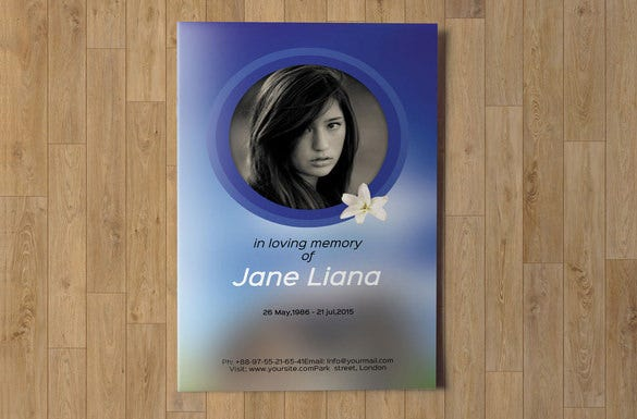 elegant psd obituary template