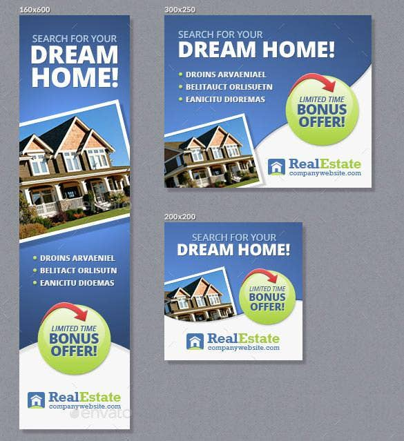 elegant real estate banner ads template