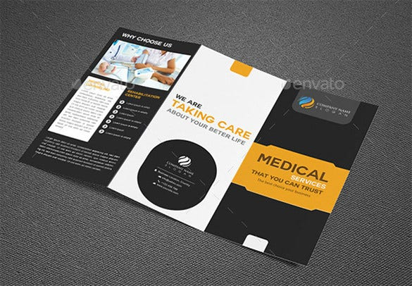 elegant try fold medical brochure psd design 8
