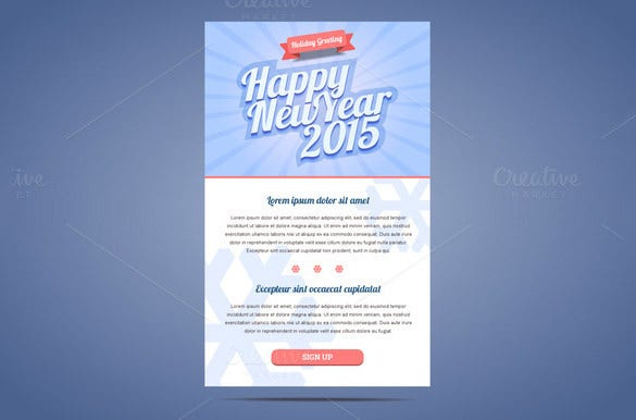 email flyer template for new year wishes 8