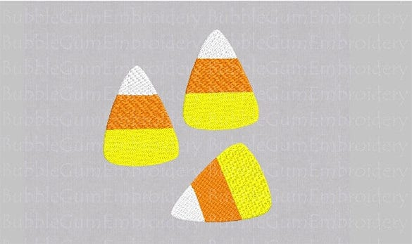 embroidery design candy corn template