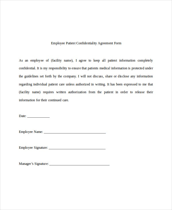 employee-patient-confidentiality-agreement-form