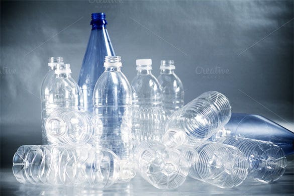 empty plastic water bottles template