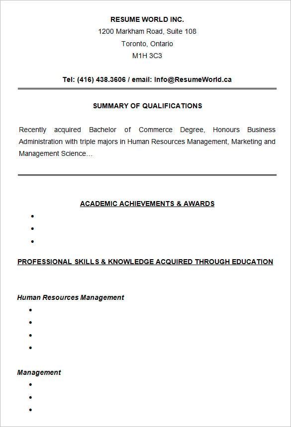Resume for college business student altavistaventures Choice Image