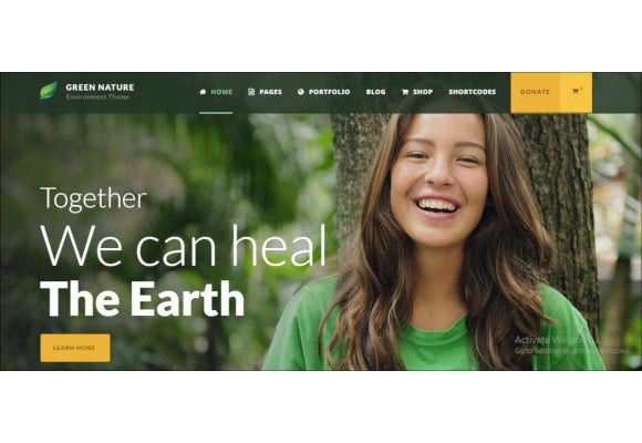 environmental non profit wp theme
