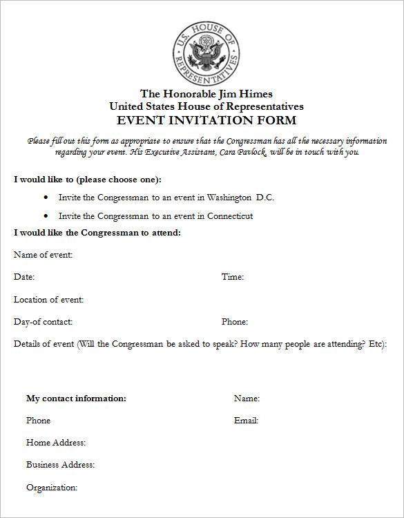 50+ Microsoft Invitation Templates - Free Samples ...