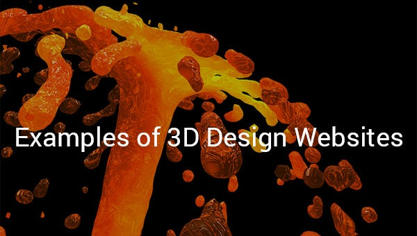 examples of 3d design websites