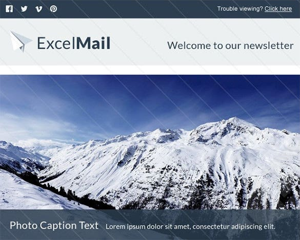 excel mail blank email template