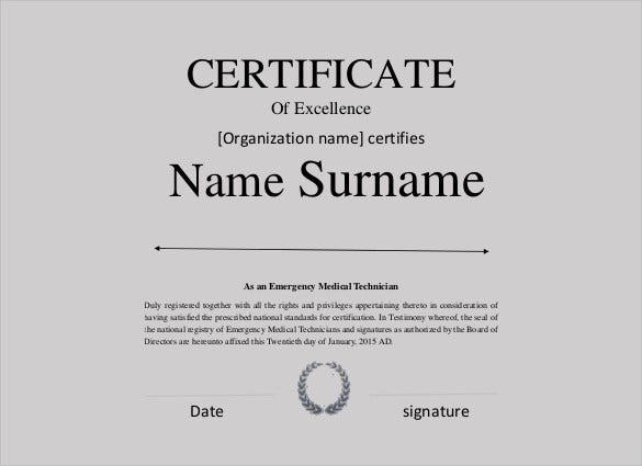 excellence-certificate-template