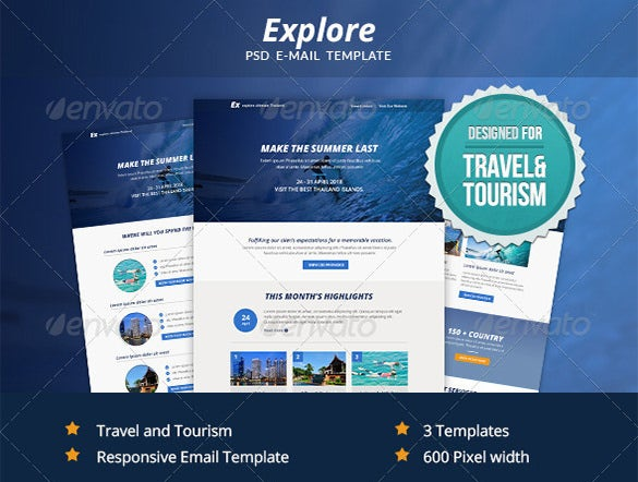 explore psd email template