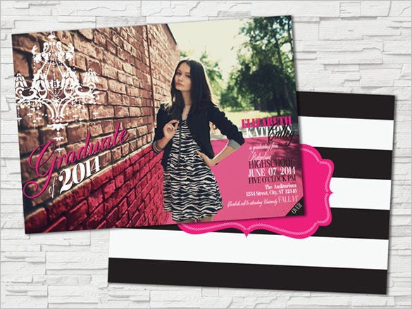 eye catching graduation announcement template download