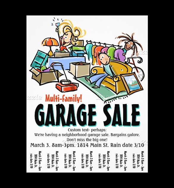 eye catching yard sale flyer free design