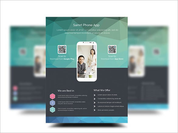 free psd app promotion flyer templates