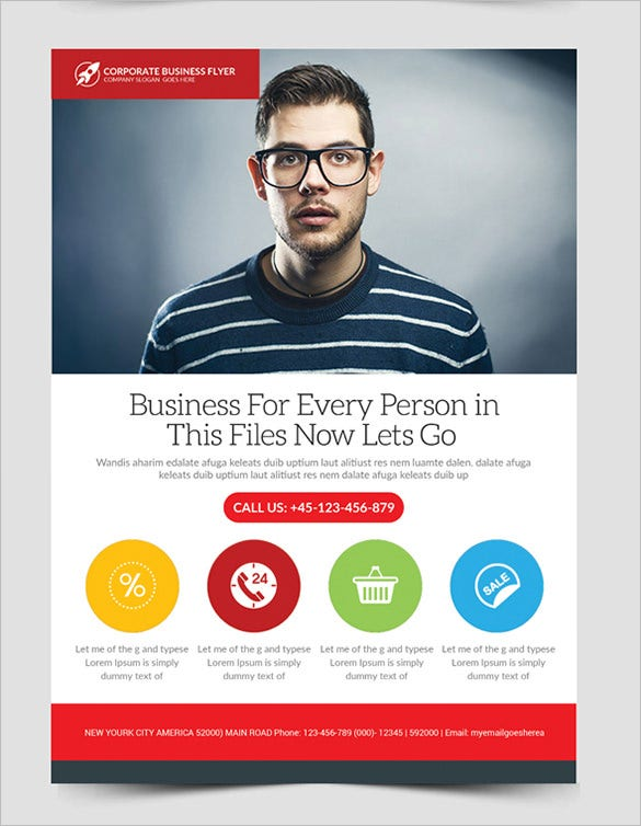 Fabulous Business Flyer Template For Free  Advertising Flyer Templates Free