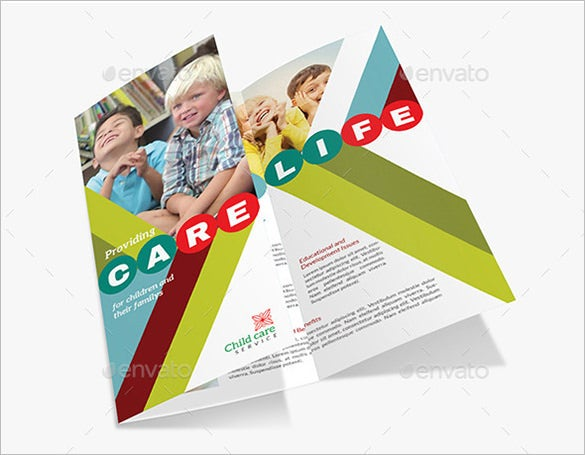 Beautiful Child Care Brochure Templates  Free  Premium Templates