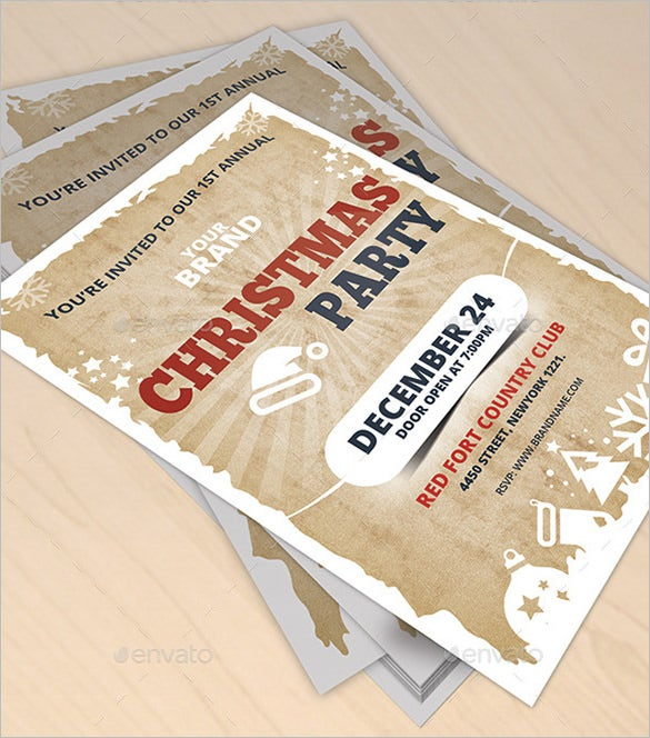fabulous christmas invitation flyer template