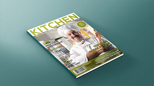 fabulous design magazine cover psd template