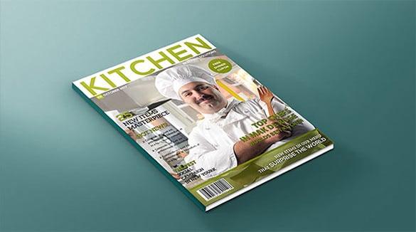 fabulous design magazine cover psd template