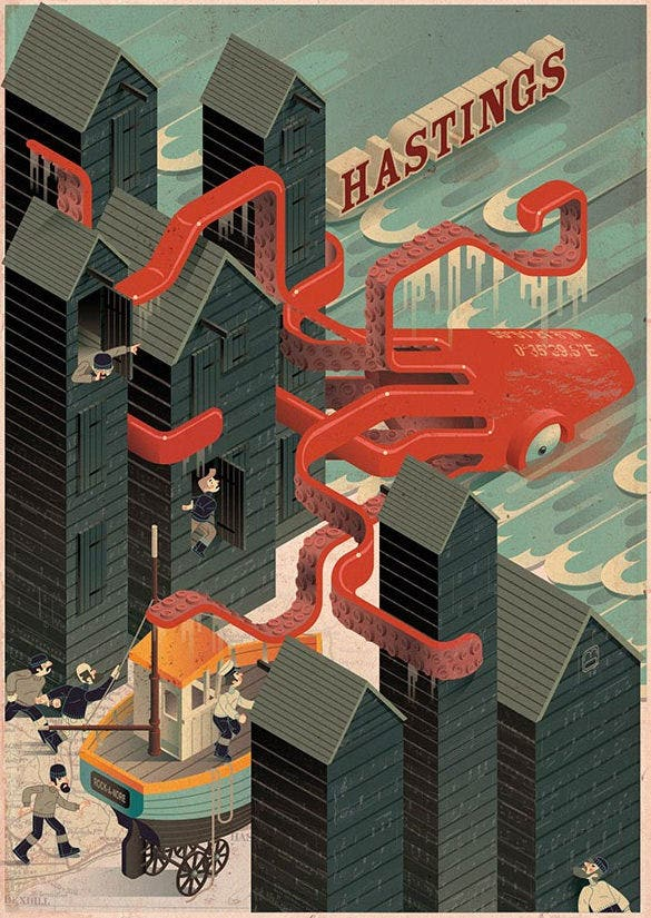 fabulous geometric illustration for hastings east sussex