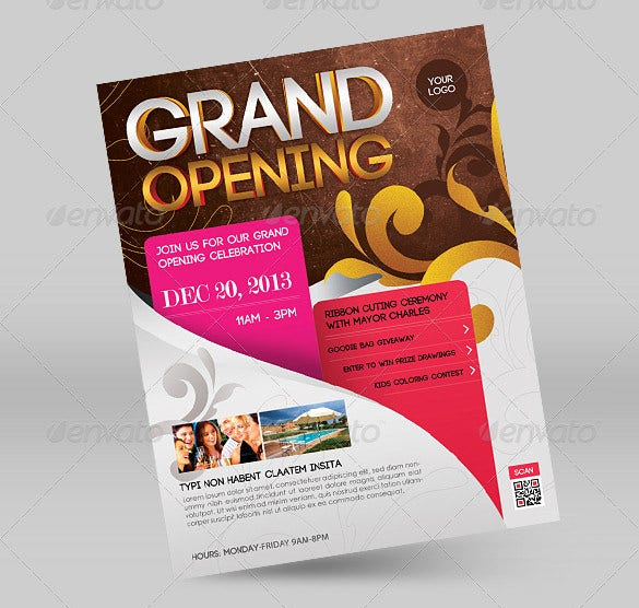 Grand Opening Flyer Template - 43+ Free PSD, AI, Vector ...