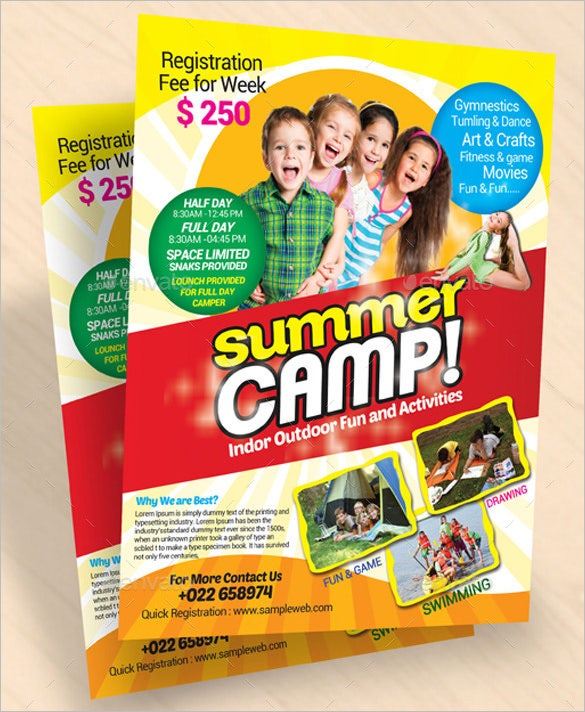 fabulous kids summer camp broucher flyer temple