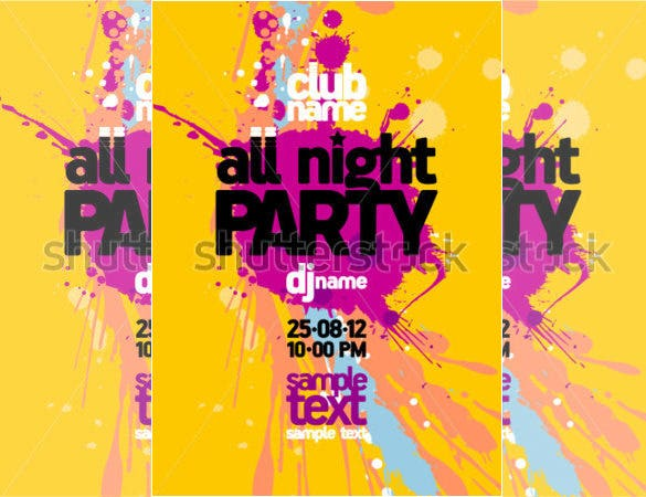 fabulous night party invitation flyer template