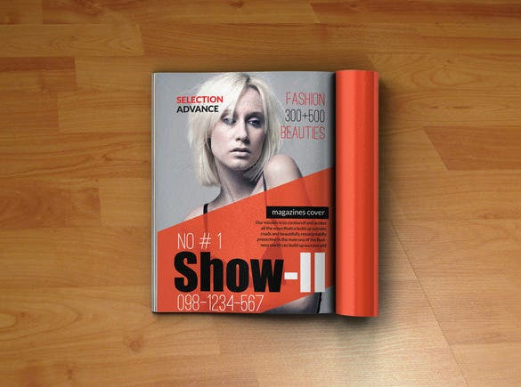 fabulous psd template for magazine cover 6