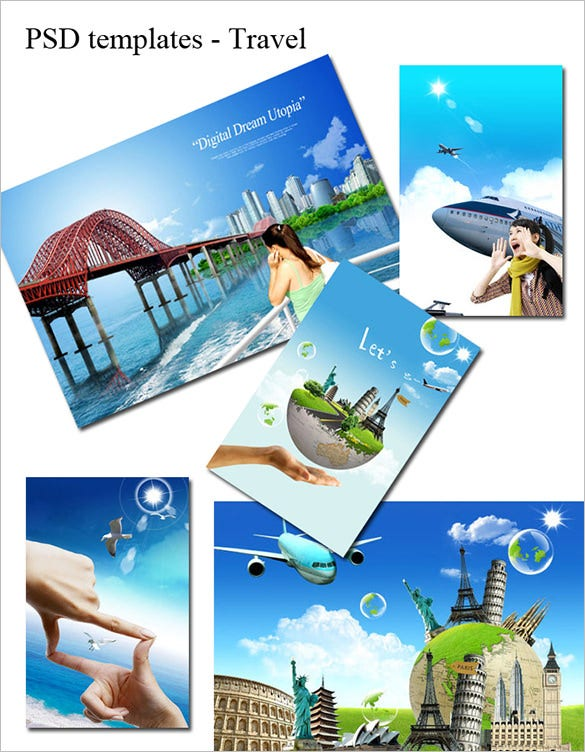 fabulous psd travel flyer template