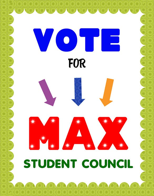 fabulous student council poster template