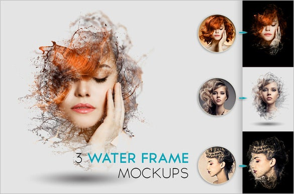 fabulous water psd frame mockup