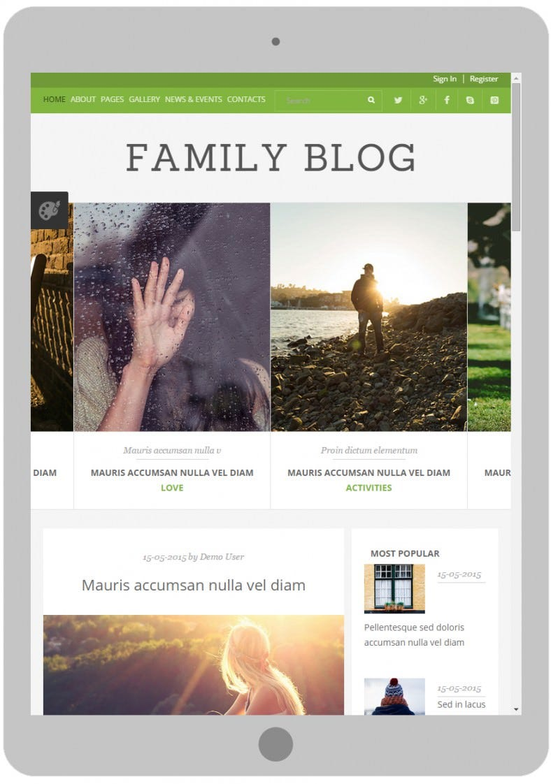 family blog joomla template 788x1122