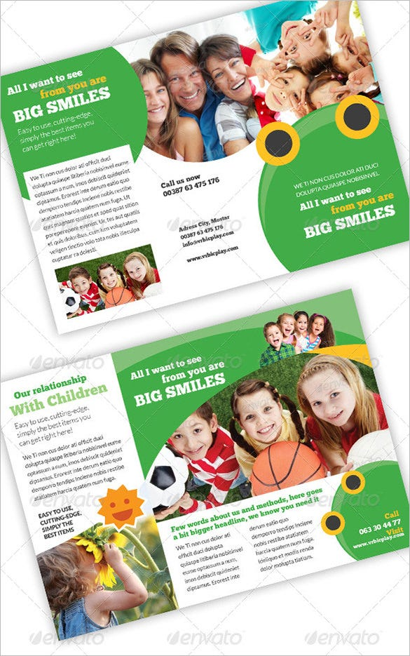 free brochure templates for kids - 13 beautiful child care brochure templates free