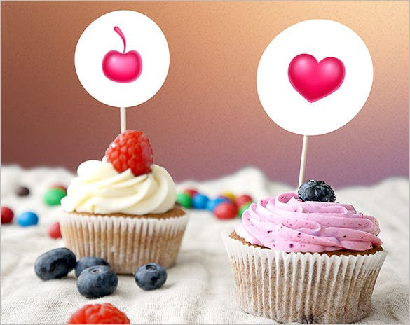 fantastic cupcake template download