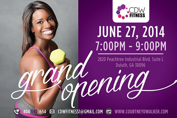 fantastic flyer template for fitness grand opening