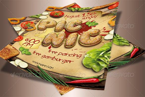 fantastic flyer template for picnic 6