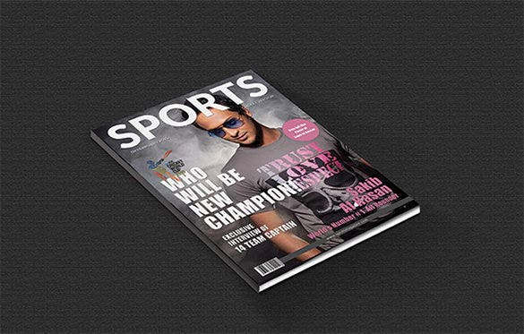 fantastic magazine cover psd template for sports
