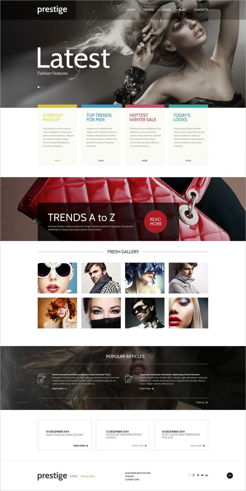 Fantastic Sliders WordPress Theme for Fashion