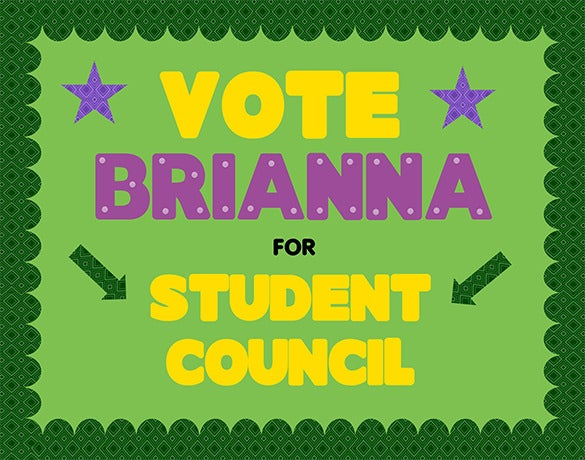 fantastic student council poster template