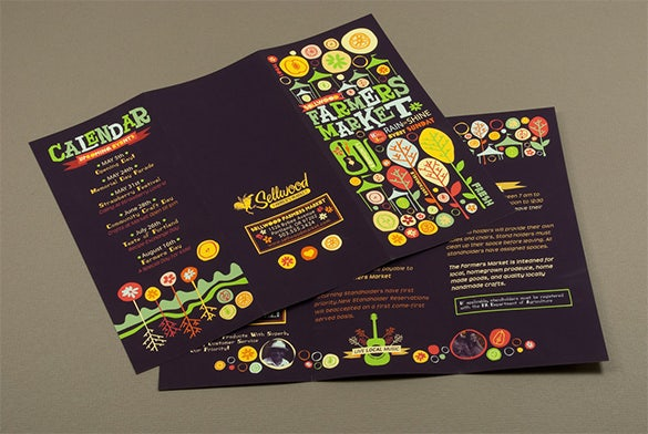 farmers market brochure desine idea