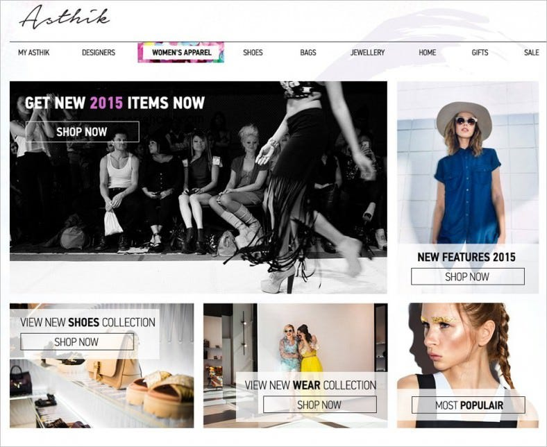fashion online store free web template psd 788x644