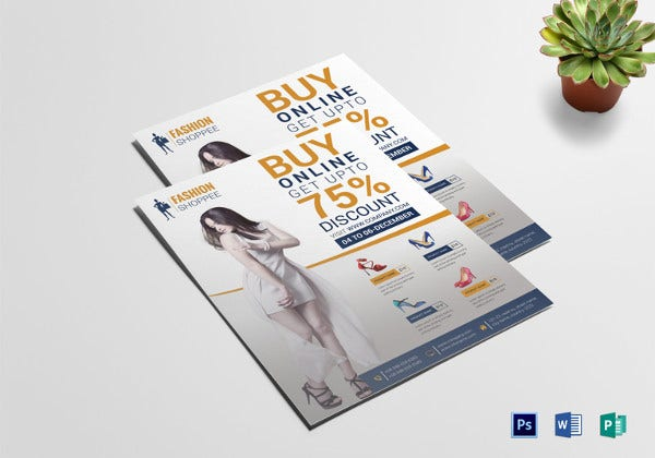 fashion promotional flyer template